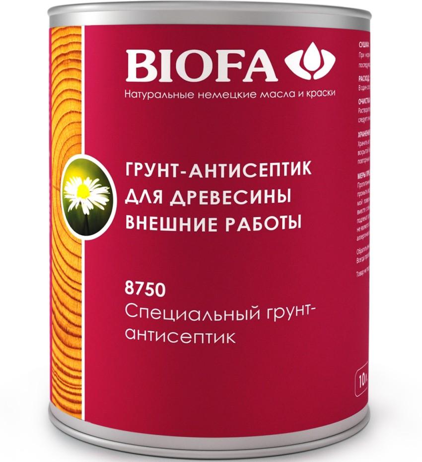 Защитный грунт Biofa применяется для профилактики плесени, грибка и пигментирования древесины