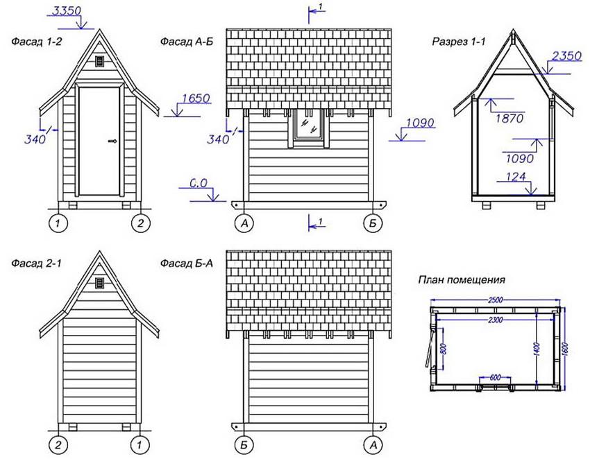 Схема домика для игр из дерева своими руками
