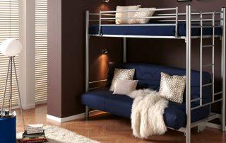 Кровать двухъярусная с диваном: удобство и оптимизация пространства