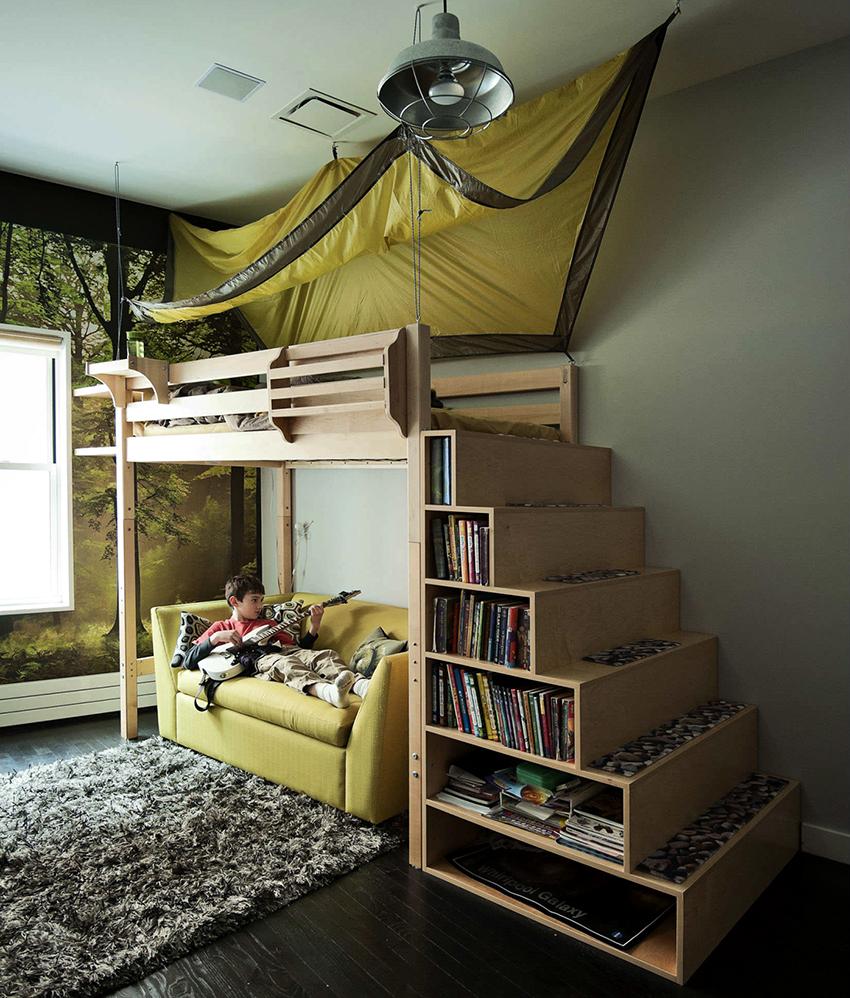 Лестница для детской кровати должна иметь антискользящее покрытие