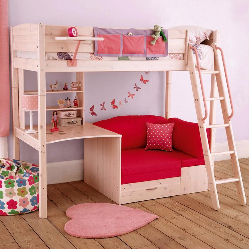 Размеры детской двухъярусной кровати должны подбираться в зависимости от возраста ребенка