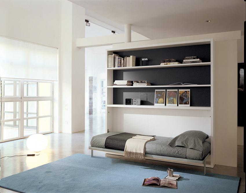 Кровать-трансформер органично вписывается в дизайн современной квартиры