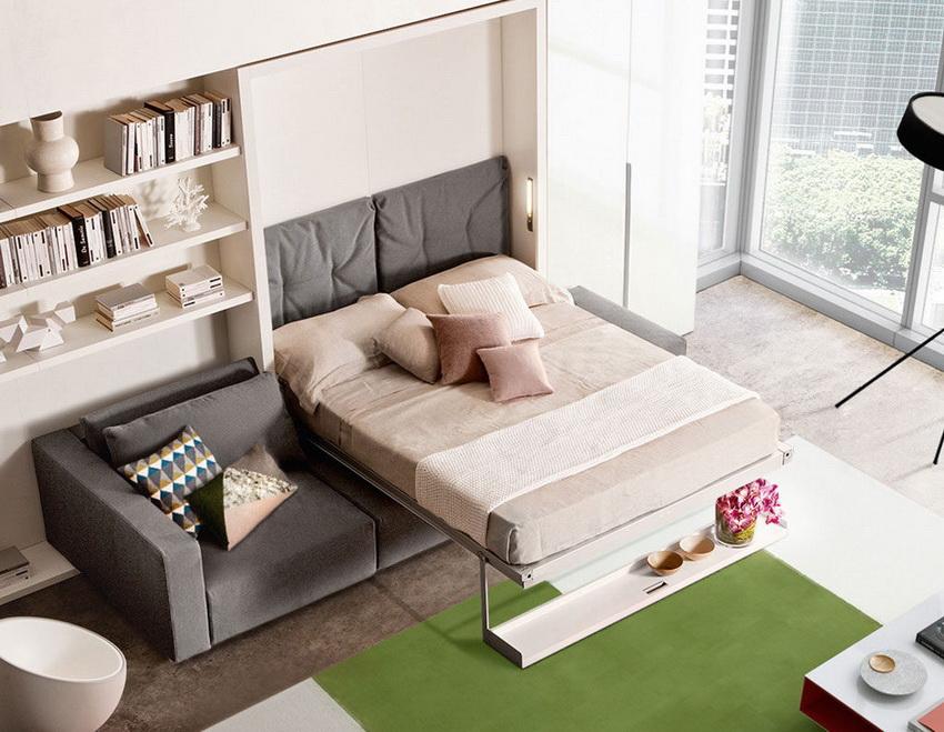 Кровать-диван может значительно сэкономить свободное пространство в небольшой квартире