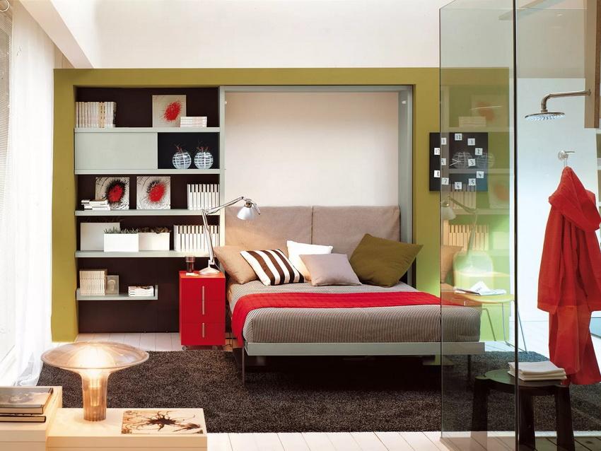 Выбор механизма встроенной кровати зависит от размеров кровати и габаритов помещения