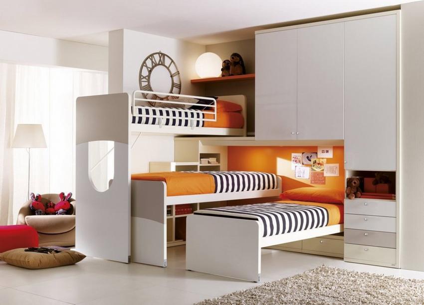 Компания ИКЕА производит легкие и удобные конструкции кроватей для детских