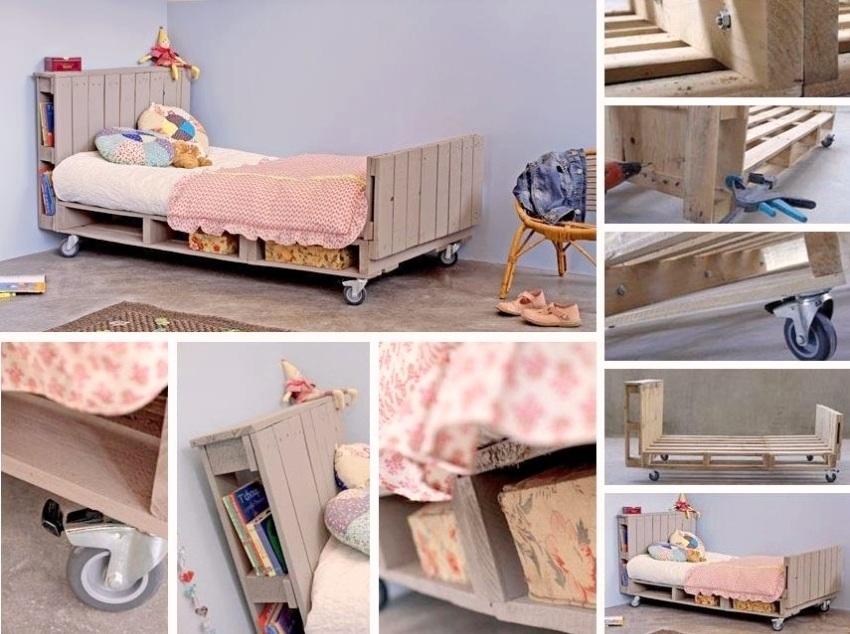 Детская кровать из поддонов, сделанная своими руками