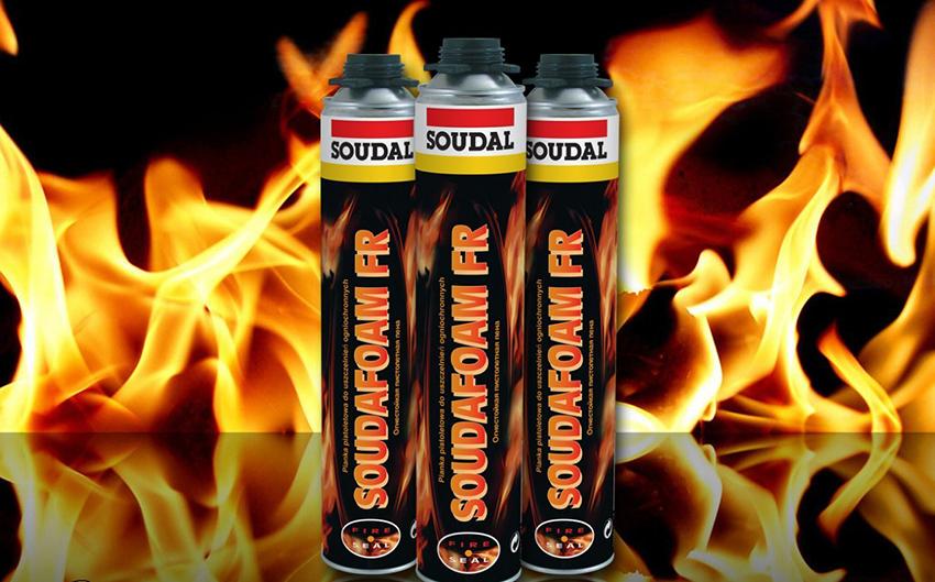 Пена SOUDAFOAM FR является профессиональной и обладает самым высоким показателем огнестойкости