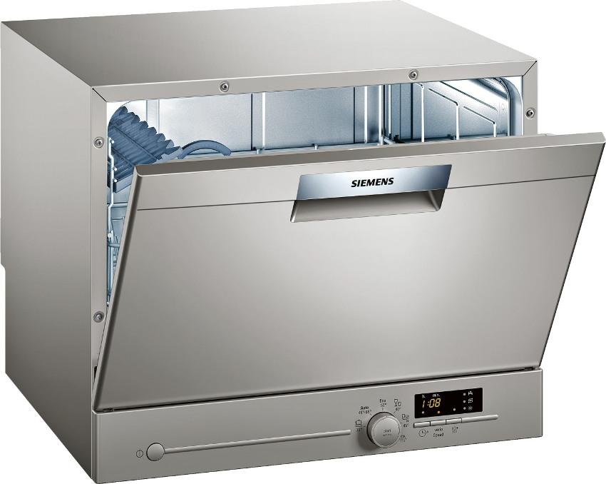 Отдельностоящая ПММ Сименс SK 26E821 имеет габаритные размеры 45х55х50 см