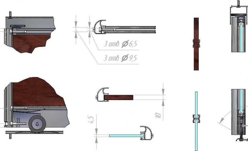 Виды раздвижных систем и рамочного профиля шкафов-купе