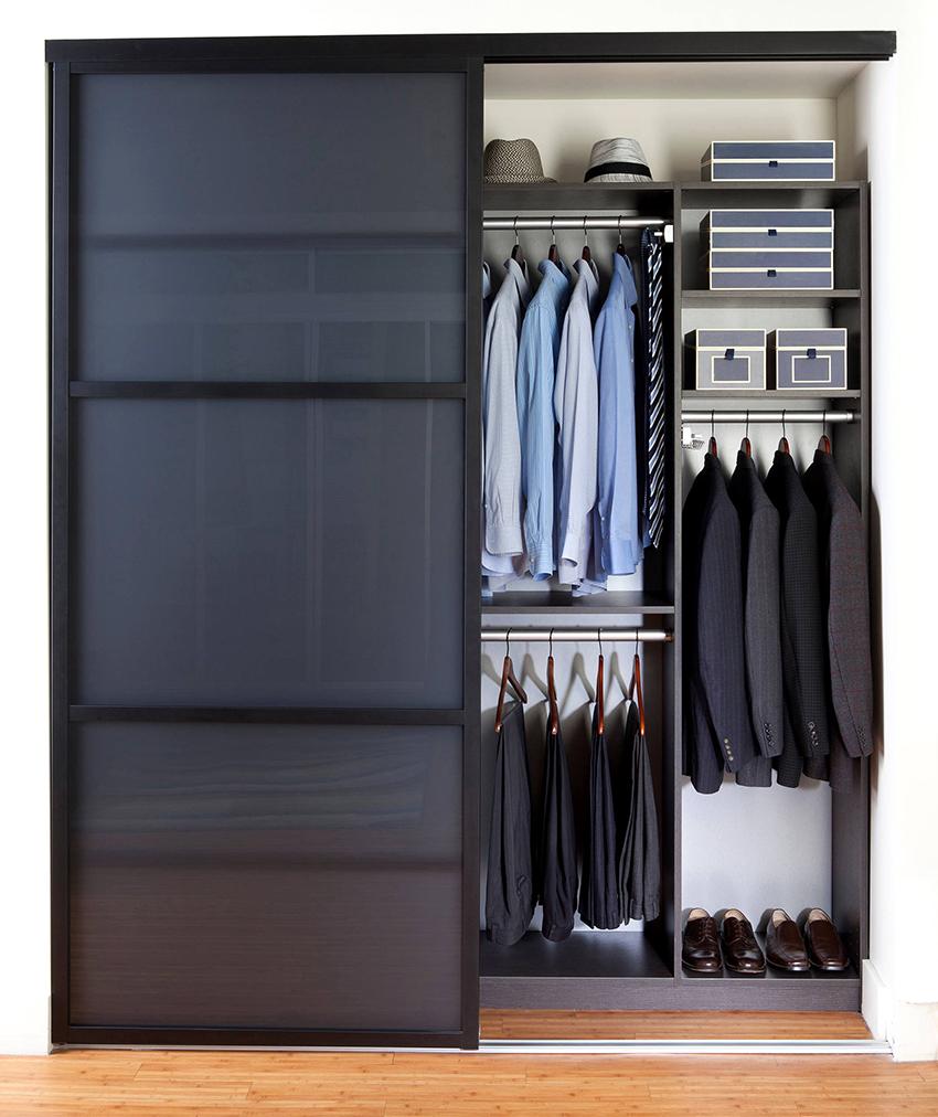 Благодаря правильному сочетанию составных элементов можно добиться максимальной эффективности внутреннего пространства шкафа