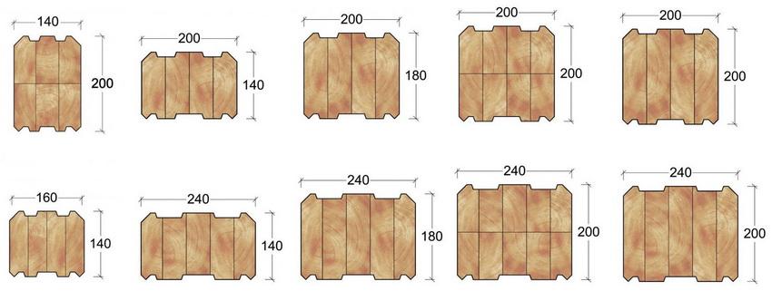 Стандартные размеры профилированного бруса