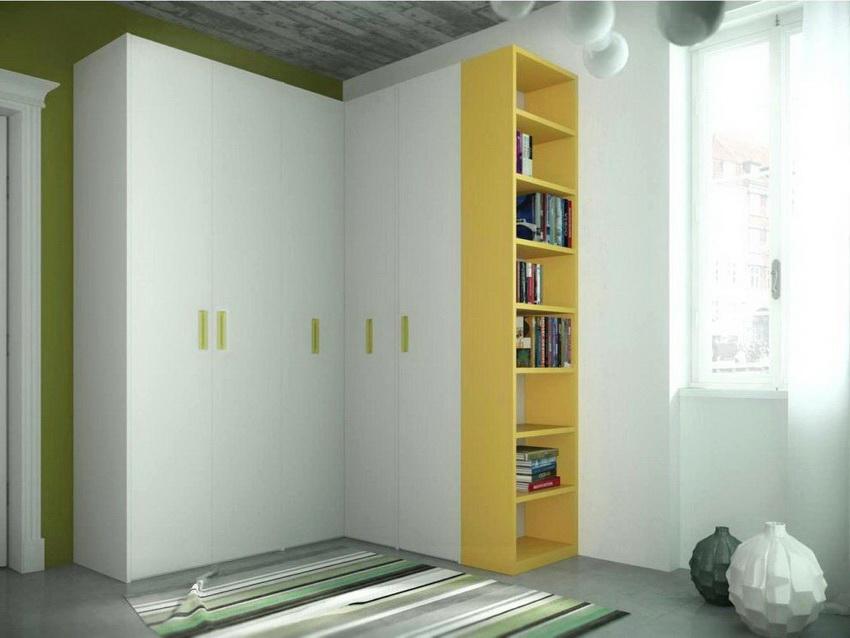 Угловые шкафы выпускаются в различных конфигурациях которые можно адаптировать под помещение любой формы