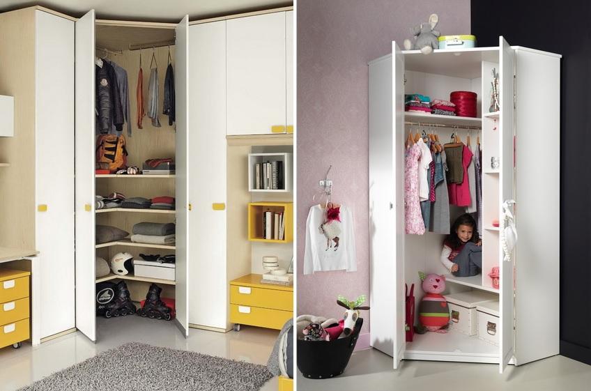Угловые шкафы могут быть как небольших так и габаритных размеров
