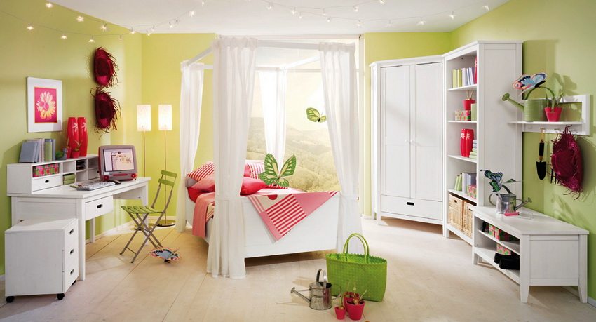 Мебель ИКЕА для детской с компактным угловым шкафом