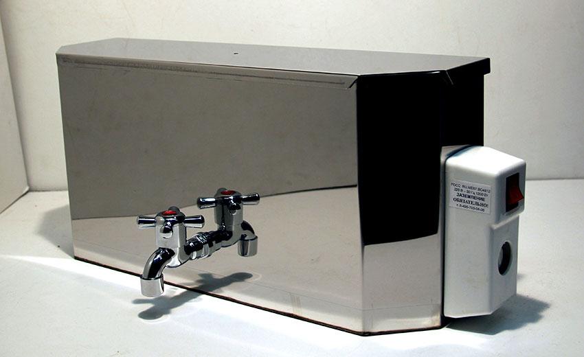 Умывальники с подогревом имеют резервуар для воды в пределах 10-20 литров