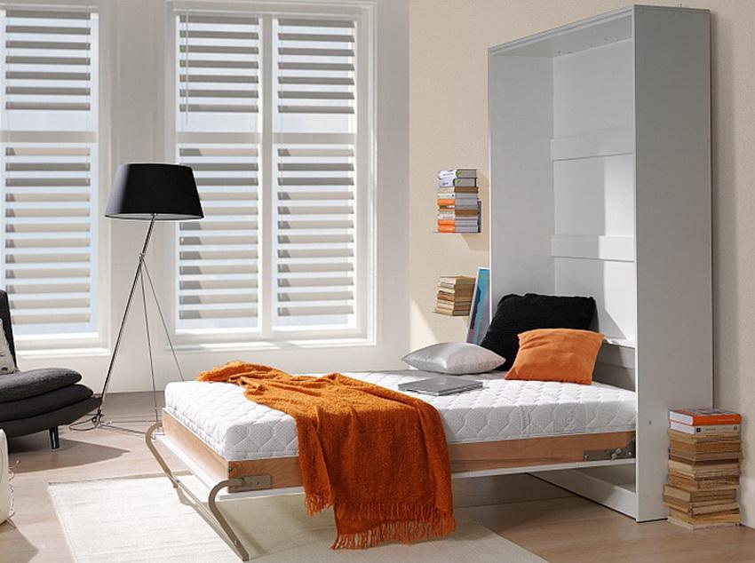 Выбор подходящей модели кровати зависит от общей площади помещения, а также размеров окружающих предметов интерьера