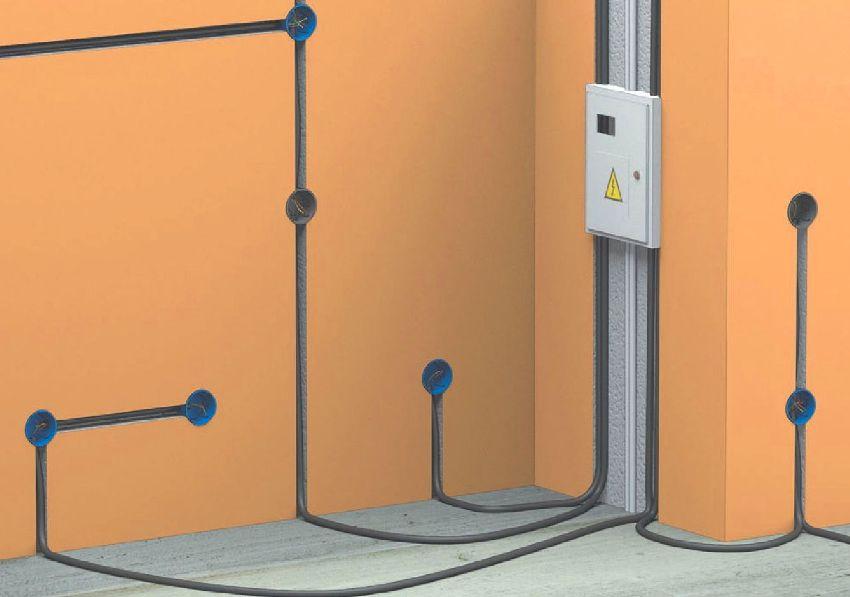 Скрытой проводкой называется проводник, проложенный под слоем штукатурки в специальных бороздах – штробах