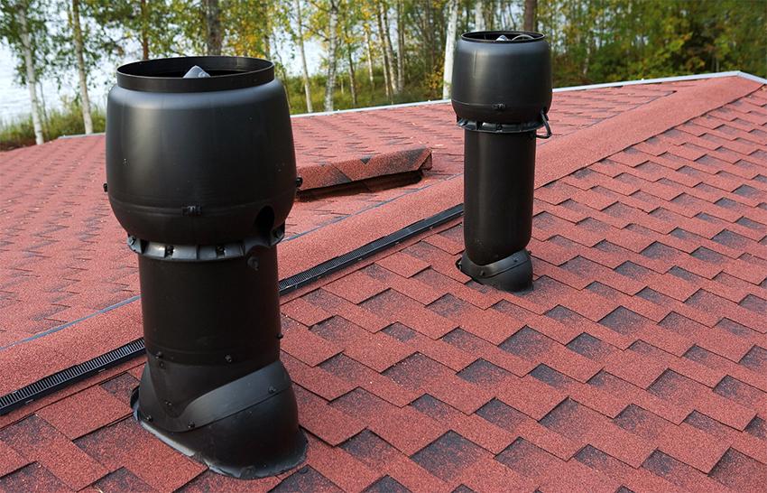 Аэратор выводит водяной пар, уменьшает давление на покрытие крыши и препятствует образованию конденсата