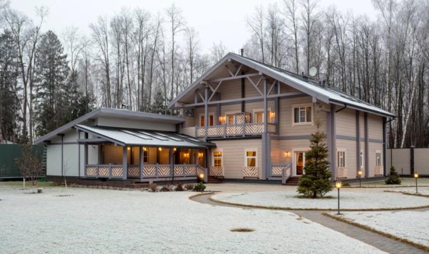 В здании большого размера можно обустроить все необходимые комнаты для проживания большой семьи