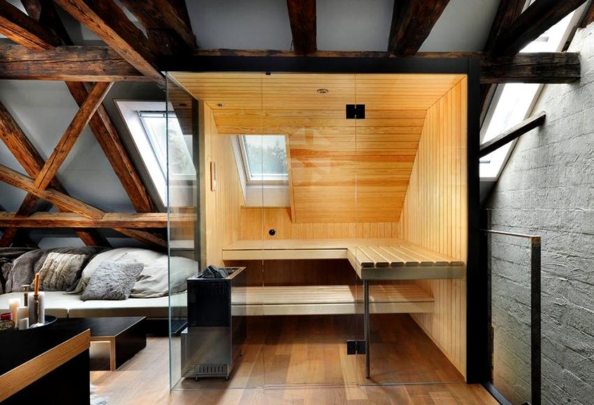 Для удобства современные бани включают в себя несколько функциональных зон