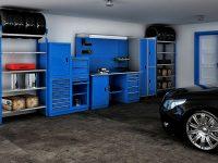 Количество и размер стеллажей необходимо подбирать в зависимости от габаритов помещения и объема вещей