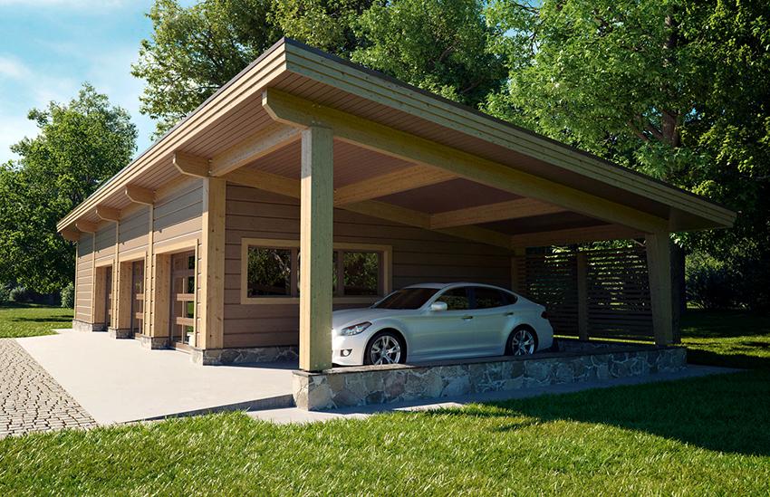 Есть гаражи открытого типа, как правило, они размещаются на территории возле дома
