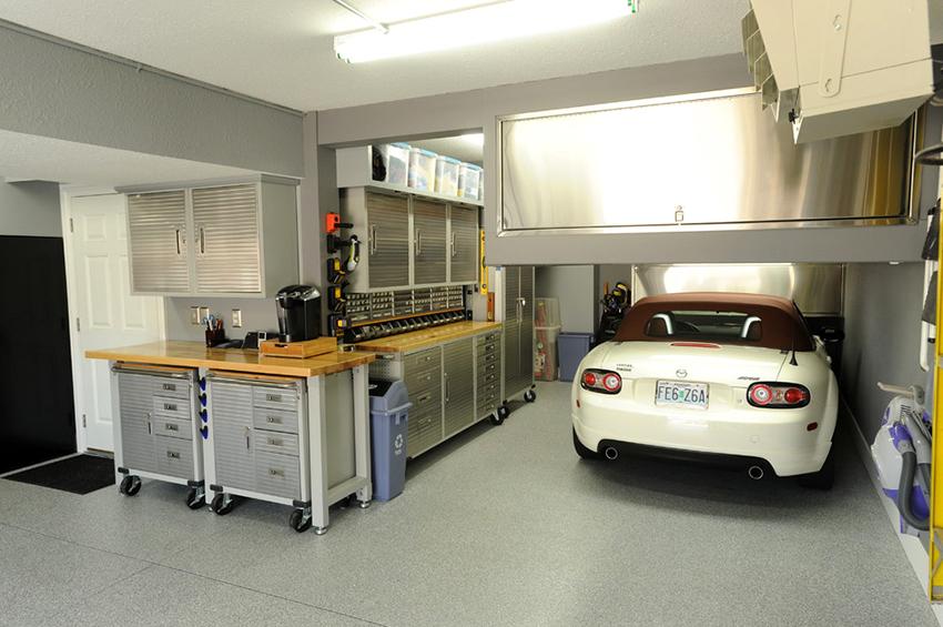 В гараже должны находится все необходимые инструменты для работы