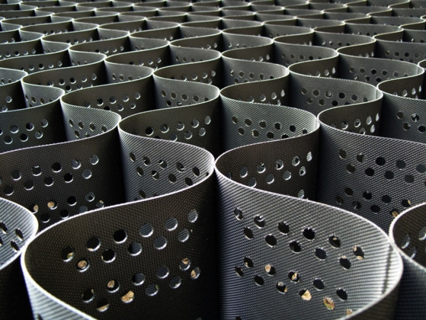 Полимерные георешётки могут иметь плоскую или объёмную структуру