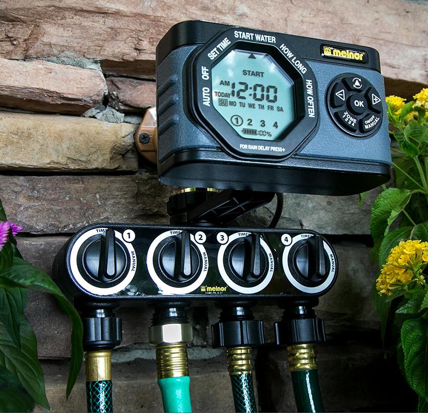 Для полива теплиц и больших территорий лучше приобрести электронный таймер