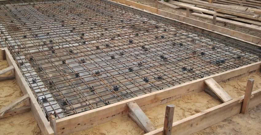 Пример плитного фундамента под гараж