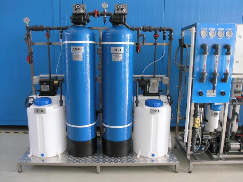 Установка для безреагентного обезжелезивания воды