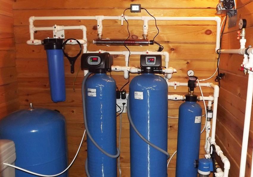 Установки напорной аэрации применяются для насыщения исходной воды кислородом при существенных концентрациях железа