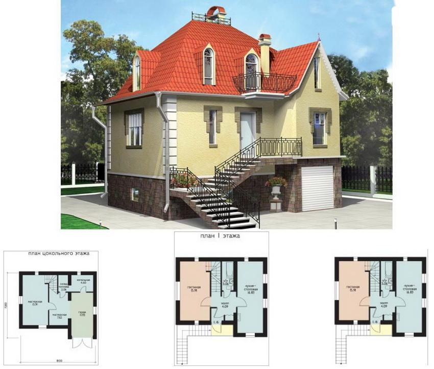Цокольный этаж - самый важный так как он служит еще и фундаментом держащим всю постройку