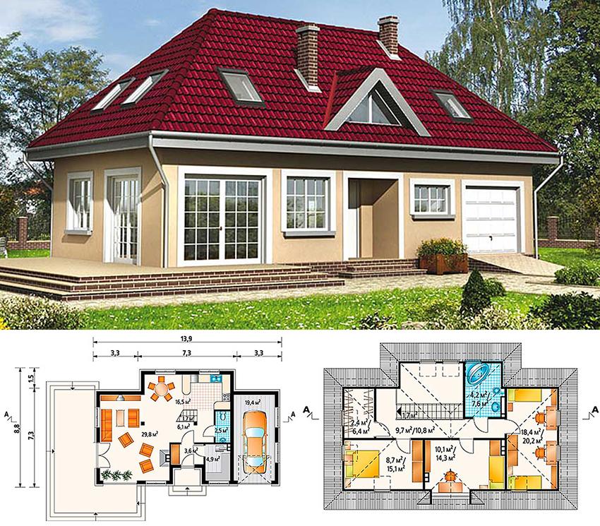 Проектирование небольшого дома с мансардой требует более внимательного подхода