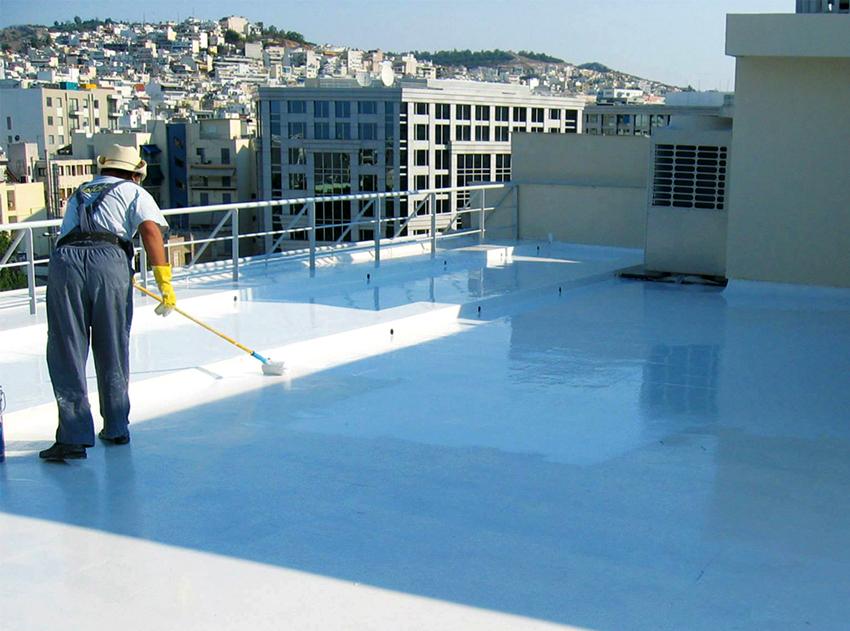 Гидроизоляционные краски для бетона максимально удобны при нанесении