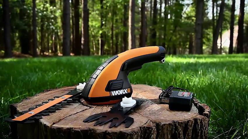 Аккумуляторные садовые ножницы удобны для обработки небольшой площади