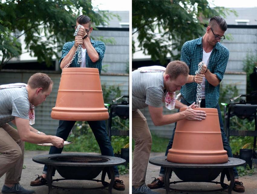 Тандыр может быть установлен как на основании так и сделан в виде ямы