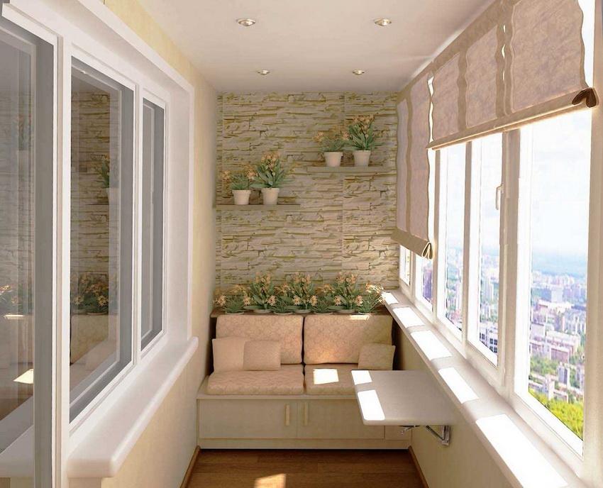 Жалюзи рулонного типа хорошо подойдут для балконов с панорамным окном