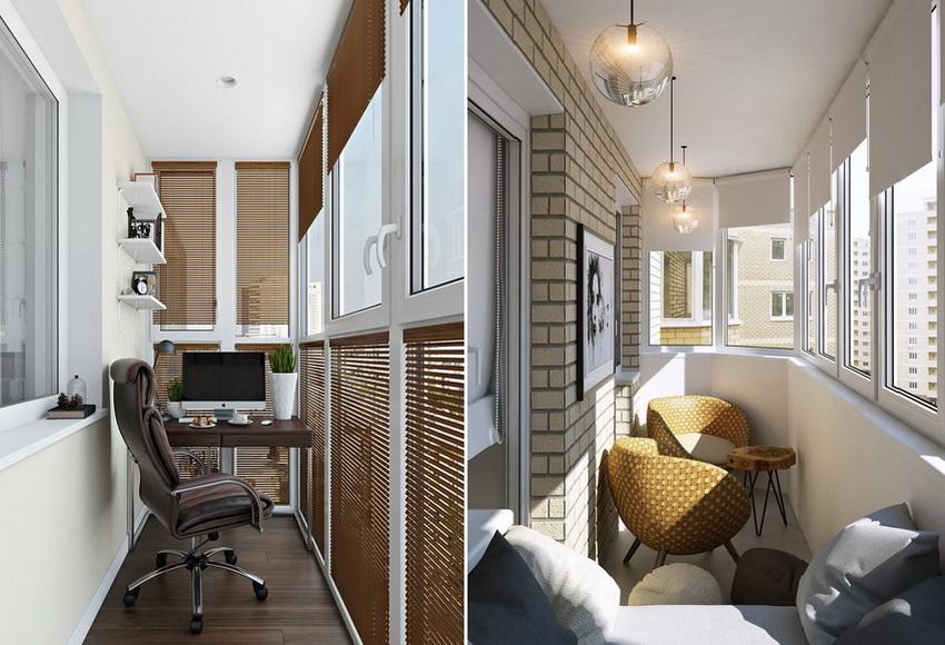 Жалюзи легко подчеркнут интерьер современного балкона и внесут в него особый шарм