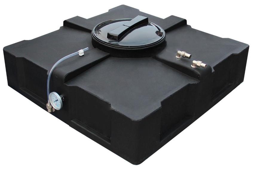 Бак для душа с подогревом устроен просто и представляет собой емкость с установленным нагревательным элементом, который способен работать во влажной среде