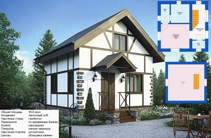Обустройство двухэтажной бани позволит создать место для отдыха или проживания гостей