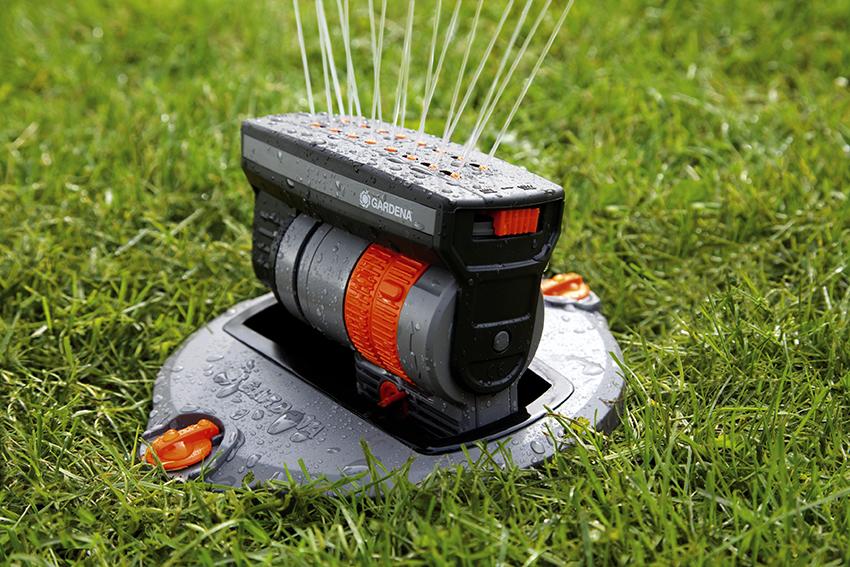 Выдвижной дождеватель для полива является самым популярным видом конструкции