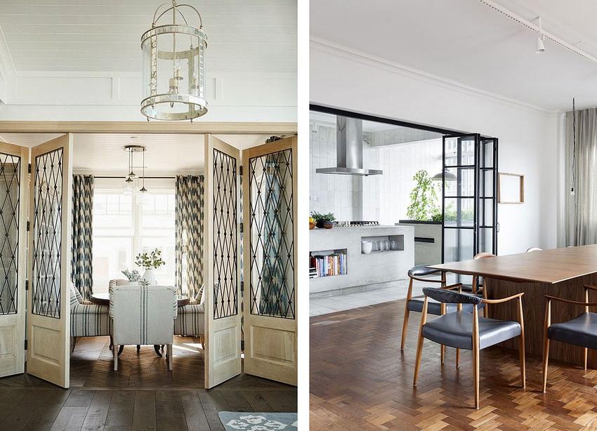 Дизайн двери должен соответствовать общему стилю интерьера