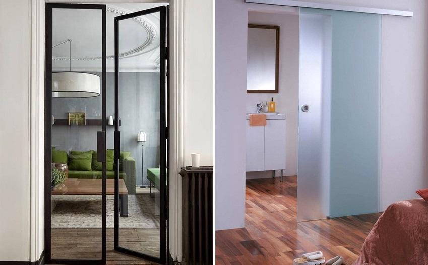 Тип конструкции и вариант размещения дверей следует выбирать исходя из особенностей помещения