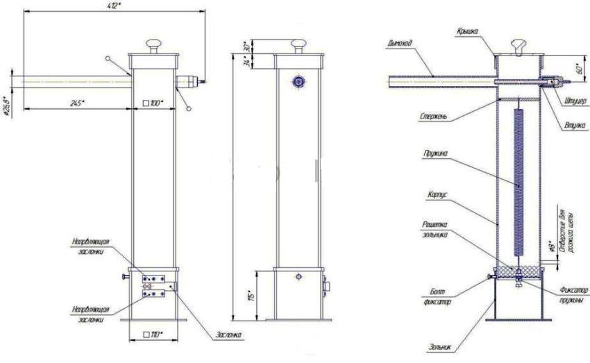 Чтобы сделать дымогенератор для холодного копчения своими руками необходимо использовать чертежи