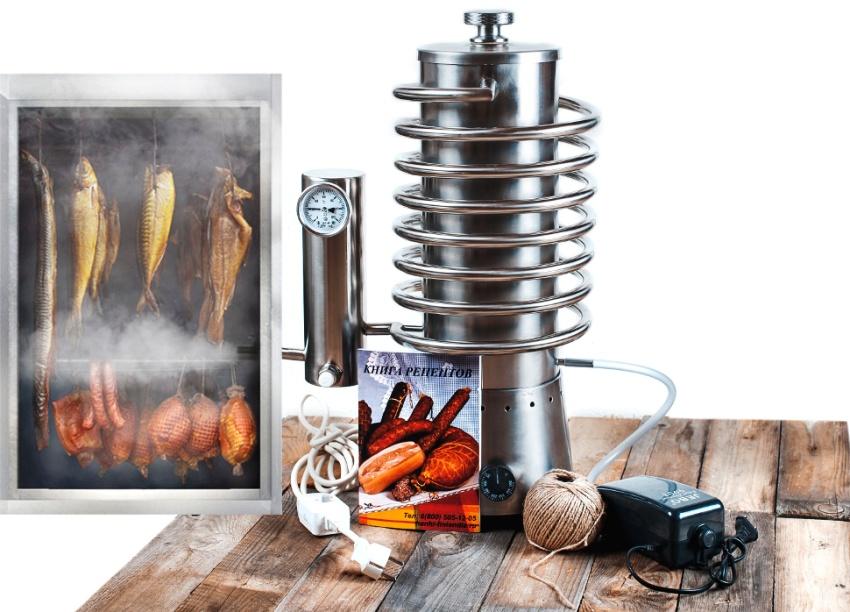 Специфический дым образуется из-за медленного горения древесного сырья, а также других отходов: из ольхи, груши, бука и яблони
