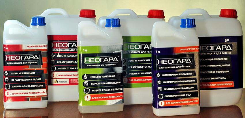 Компания Неогард предлагает обширный выбор пропиток для разных материалов