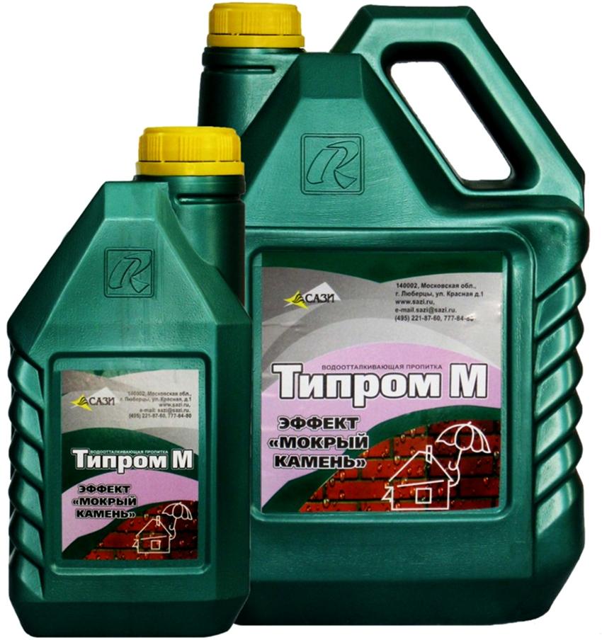 Бренд Типром предлагает гидрофобизаторы с эффектом «мокрый камень»