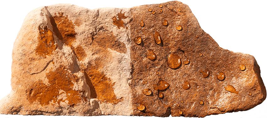 Для искусственного и натурального камня гидрофобизаторы необходимо подбирать в зависимости от типа поверхности