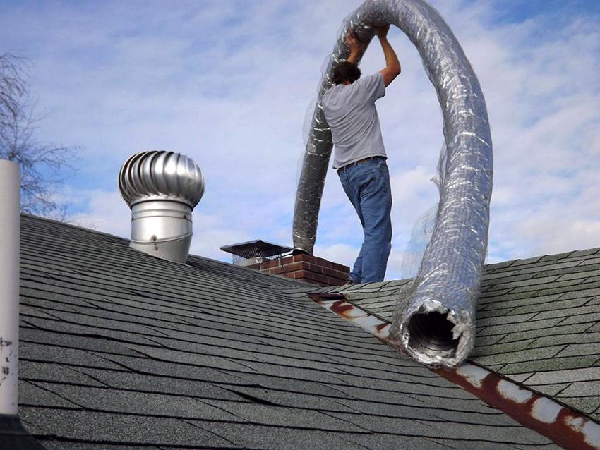 Гофрированные трубы большого диаметра применяются для обустройства дымоходных каналов